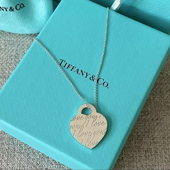 """Tiffany Notes """"I Love You"""" Pendant"""